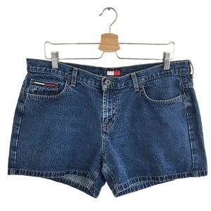Vintage 90s Tommy Hilfiger High Waisted Jean Short